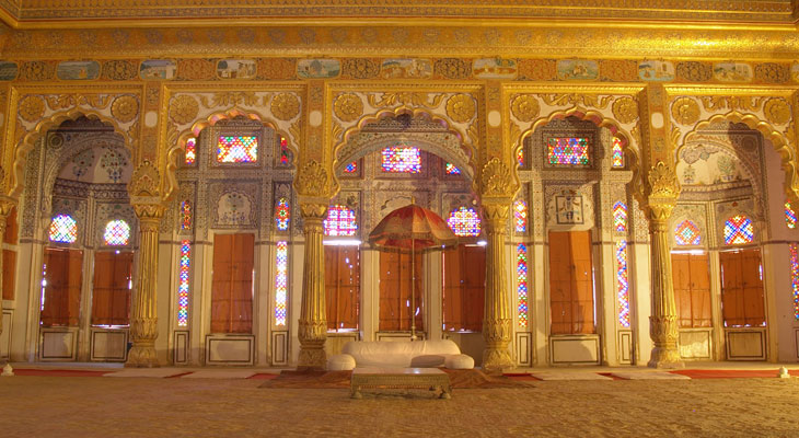Luxury Rajasthan Holiday - Maharajahs quarters at the Mehrangarh Fort in Jodhpur
